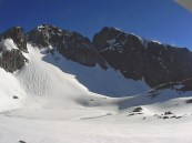 Súvislejšie snehové plochy v okolí Ľadového plesa, 6. máj 2014