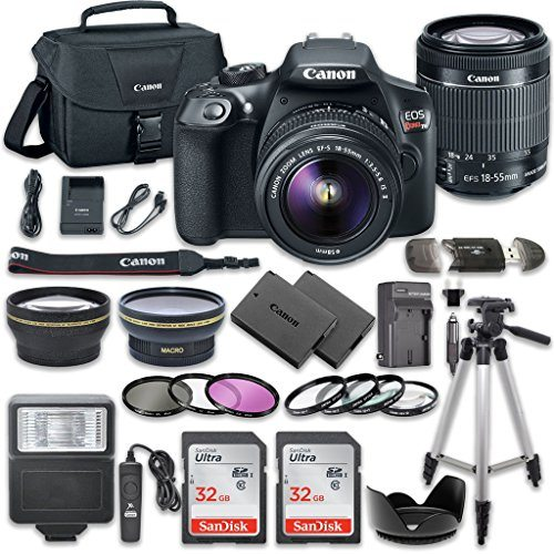 61j4LE9gOBL - Canon EOS Rebel T6 DSLR Camera Bundle with Canon EF-S 18-55mm f/3.5-5.6 IS II Lens + 2pc SanDisk 32GB Memory Cards + Accessory Kit