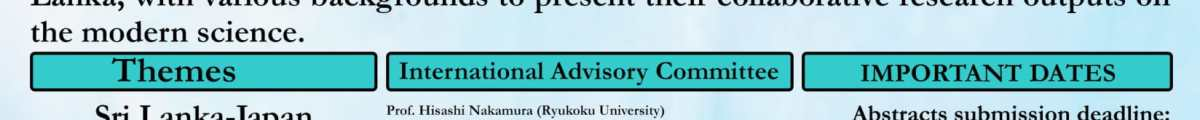 6th Annual Conference on Sri Lanka Japan collaborative research: SLJCR- 2018