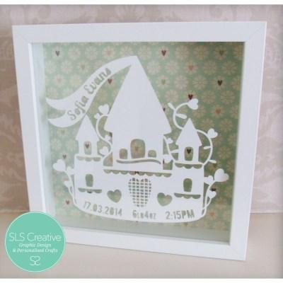 Princess Castle Paper Cut Template
