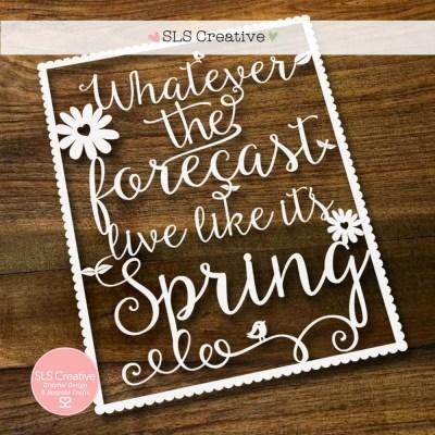 SLS Creative Paper Cut Template Spring