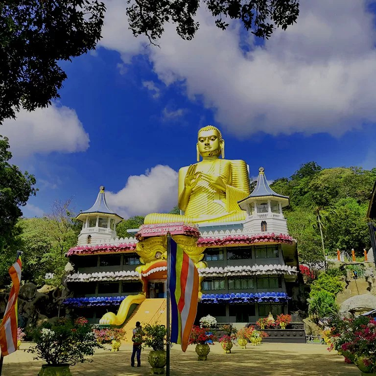 The Golden Rock Temple-Dambulla