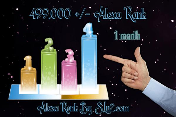 Increase your Alexa rank to 499,000