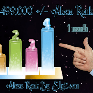 Increase your Alexa rank to 499,000
