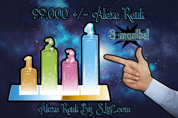 Increase your Alexa rank to 99,000 three month subscription