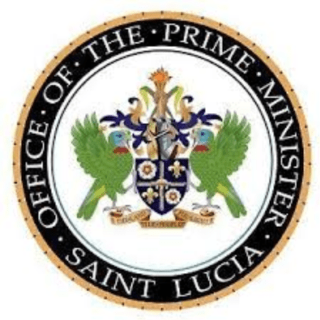 Crest of the office of the prime minister of saint lucia