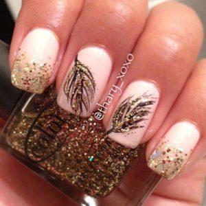 złoty manicure