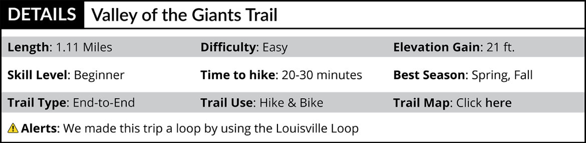Valley of the Giants Trail Details