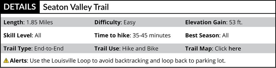 Seaton Valley Trail description
