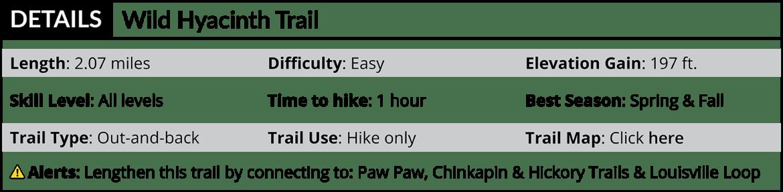 Wild Hyacinth Trail Details