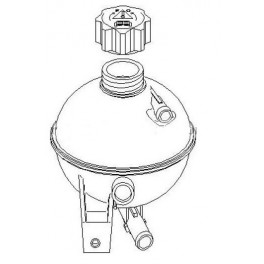 Bocal de liquide de refroidissement pour Peugeot 206 1.4 1