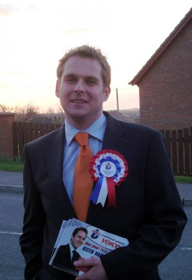 Keith Harbinson (TUV) out canvassing