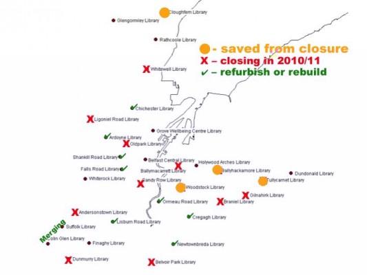 Greater Belfast libraries plan - final map