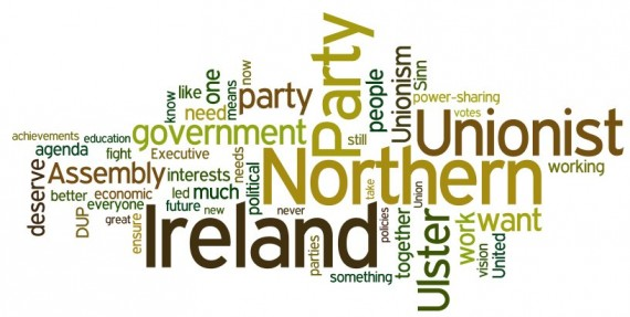 UUP wordle of Tom Elliott's speech