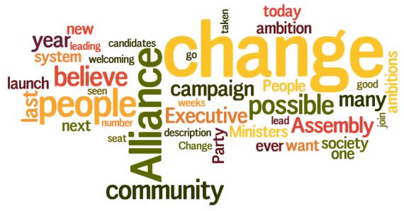 David Ford 2011 campaign launch speech wordle - wordle.net