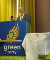 Environment Minister Alex Attwood speaking at Green Party conference