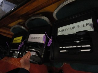 UUP AGM ballot boxes