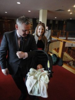 John McCallister, wife Jane and baby Harry