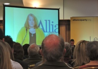 Deputy leader Naomi Long MP addressing Alliance Conference 2012