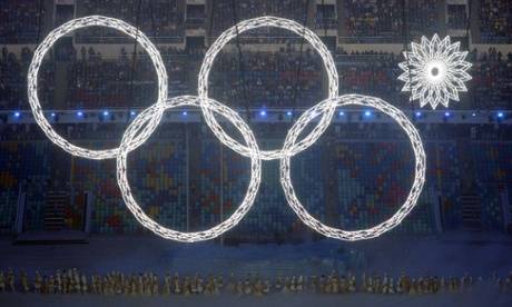 Sochi 2014 Winter Olympic Rings opening