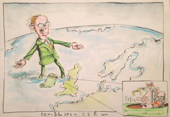 Martin McGuinness cartoon, Brian John Spencer