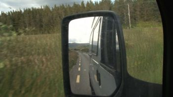 Eat Your Children Transit Van mirror