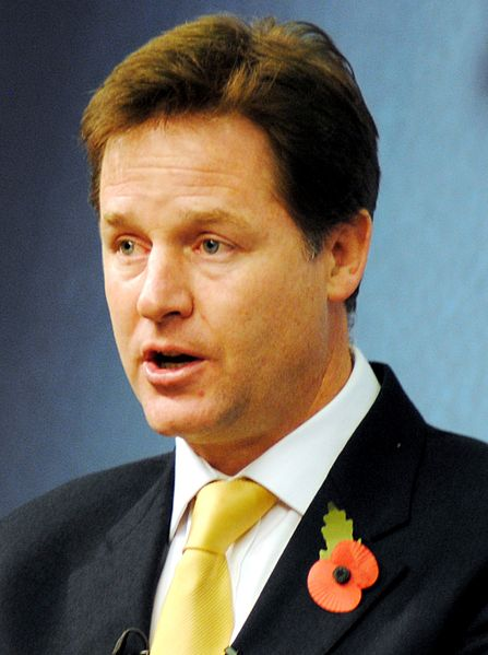 Nick Clegg, Lib Dem leader since 2007
