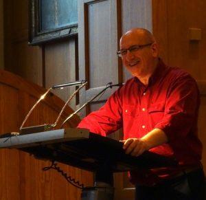 Michael Bauwens at QUB Great Hall