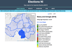 ElectionsNI newry and armagh webpage