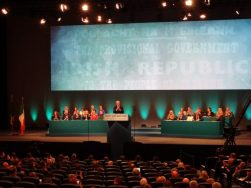 Martin McGuinness addresses 2016 Sinn Fein ard fheis (Friday night) in Convention Centre Dublin