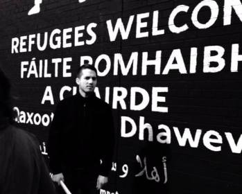 Refugees Welcome Mural - photo by Máirín Murray