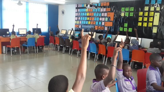 Slum2School Beneficiaries using the newly commissioned Computer Development center.