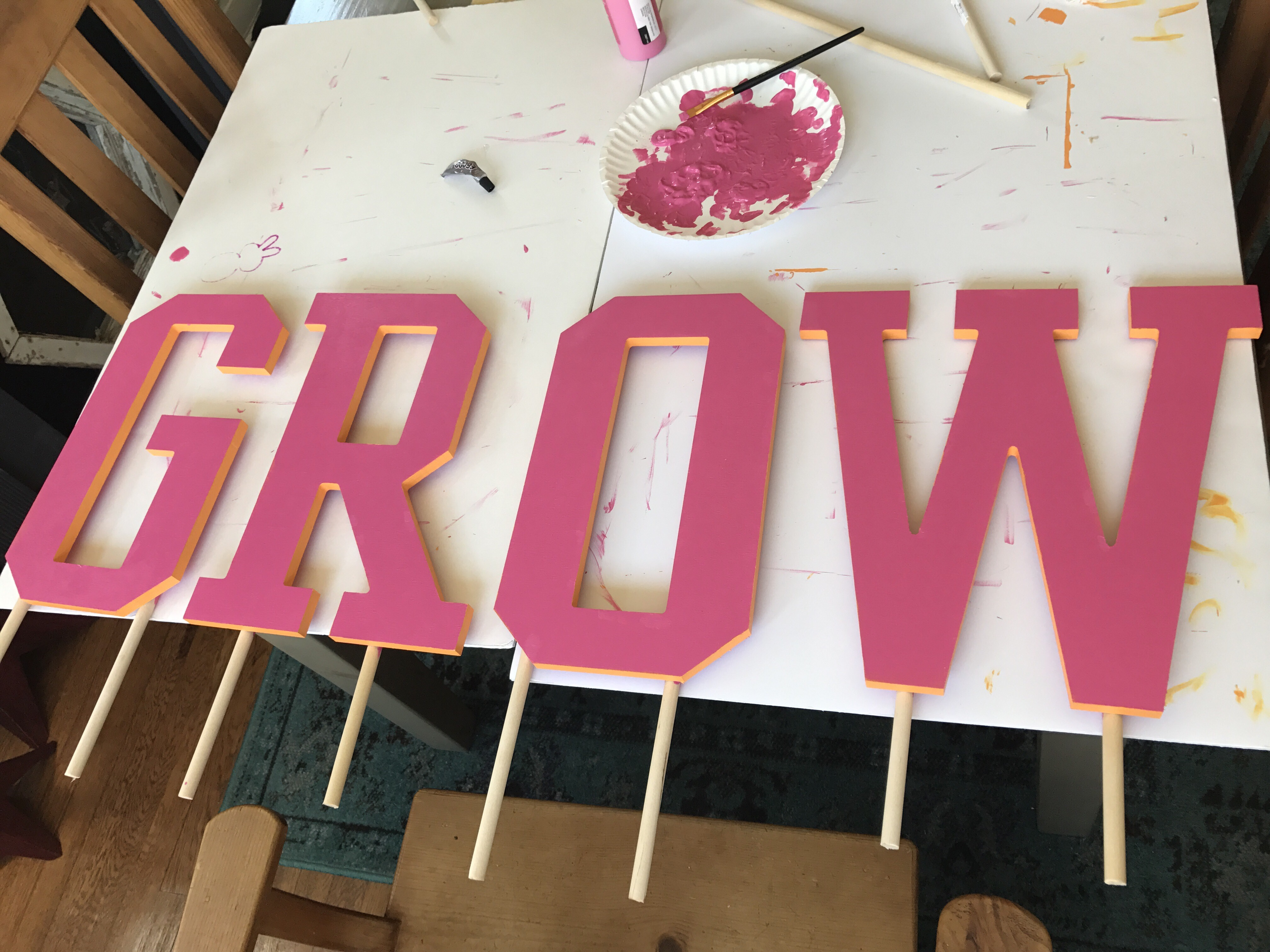 GROW Garden Sign | Slumbering Alligator