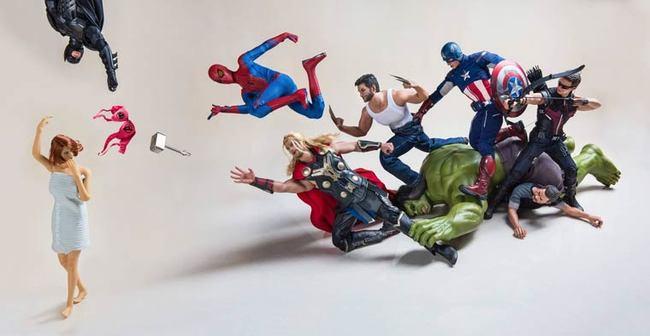 avengers batman toys photography