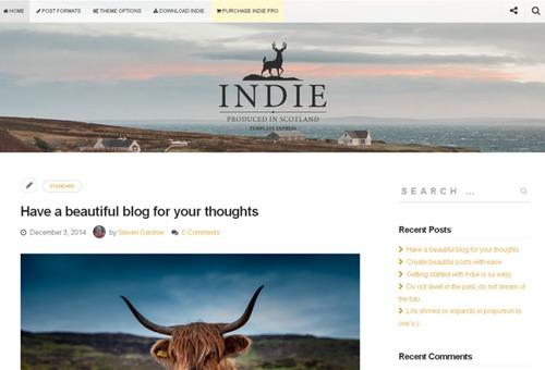 indie simple responsive theme