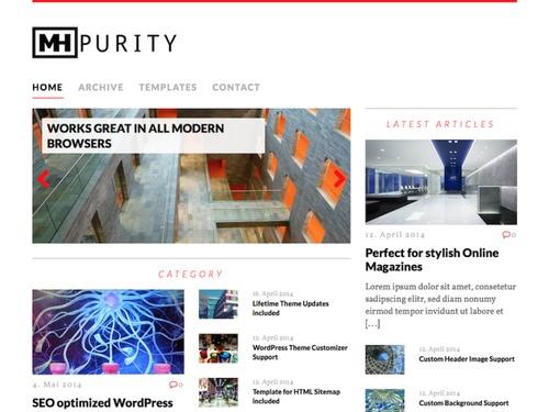 mh purity lite magazine wp theme 2015