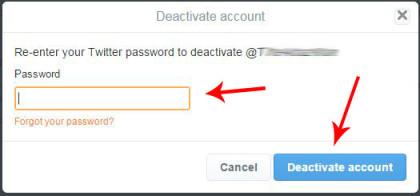 deactivate delete your twitter account