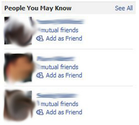 facebook friends suggestions