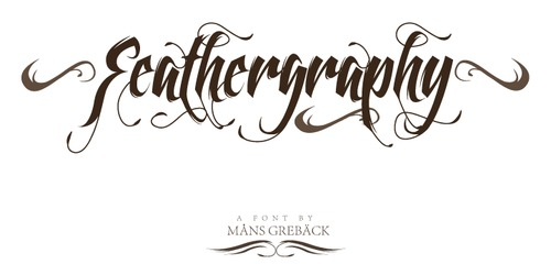 feathergraphy font