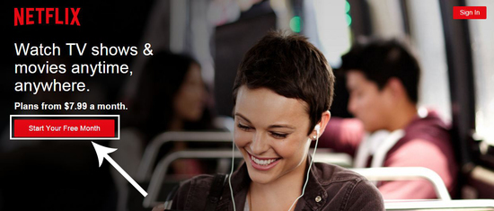 create netflix account free
