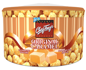 Chef Tony's original caramel popcorn