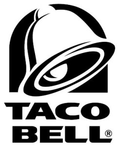 taco bell logo black and white