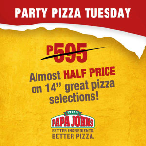 P299 Pizza Party Tuesday