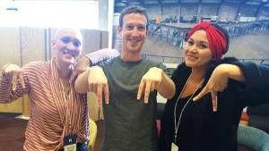 Abby Asistio meets Mark Zuckerberg
