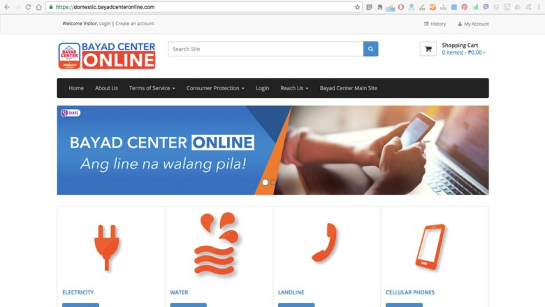 Bayad Center Online screenshot
