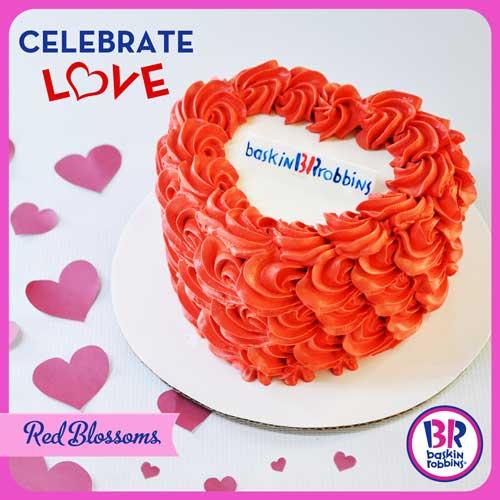Baskin-Robbins Red blossoms Valentine ice cream cake