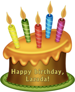 happy birthday, lazada