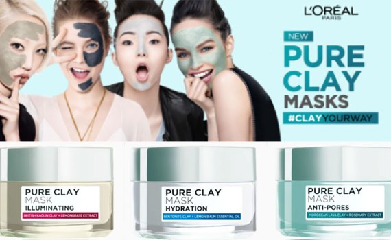 Pure Clay Masks feature