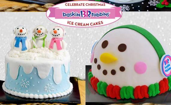 Baskin-Robbins Christmas ice cream cake