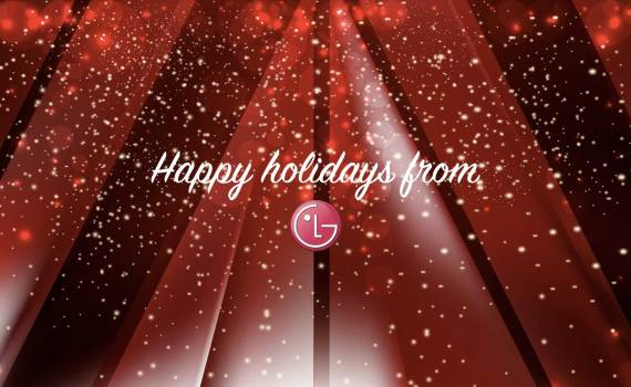 happy holidays from LG